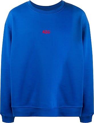 424 Sweatshirt mit Logo-Stickerei - Blau
