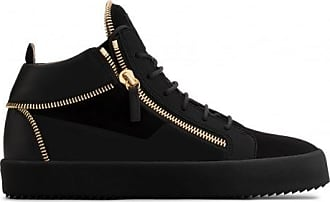 Giuseppe Zanotti Suede and leather mid-top sneaker KIRK