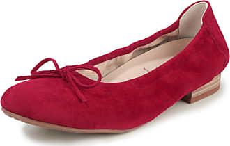 Semler Kidskin suede ballerina pumps Semler red