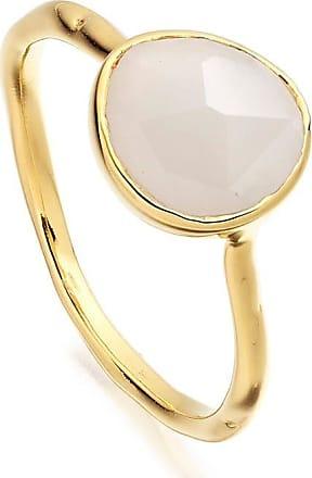 Monica Vinader Siren Stacking Moonstone ring - GOLD