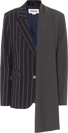 Monse Asymmetric stretch-wool blazer