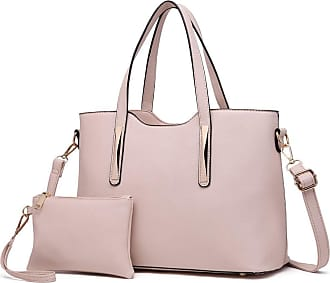 Quirk PU Leather Handbag & Purse - Beige