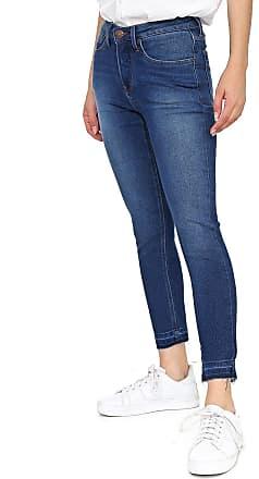 Calvin Klein Jeans Calça Jeans Calvin Klein Jeans Slim Cropped Estonada Azul