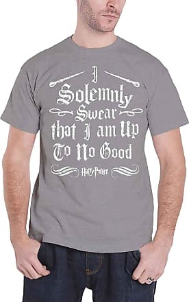Sizes S-XXL HARRY POTTER Official Licensed Mens Solemnly Swear Black T-Shirt