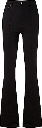Amapô Calça jeans flare cintura alta - Preto