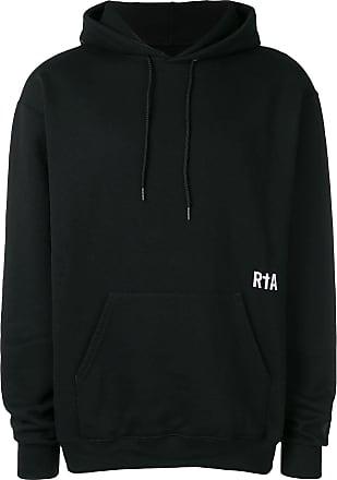 Rta printed drawstring hoodie - Preto