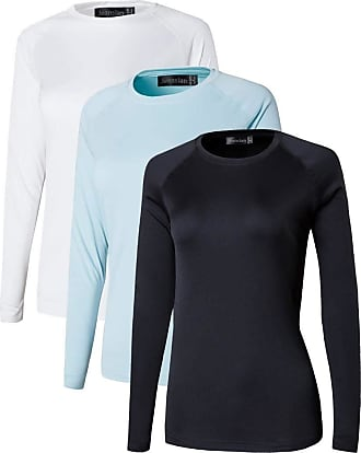 Jeansian Womens 3 Packs UPF 50+ UV Sun Protection Outdoor T-Shirt SWT246 PackE S