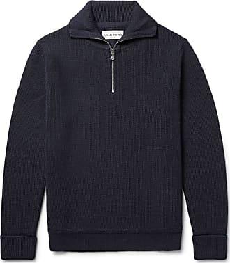 Salle Privée Rikard Virgin Wool Half-zip Sweater - Midnight blue