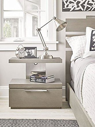 Universal Furniture 6351081 Axis Collection One Drawer Nightstand, 16 x 23, Grey