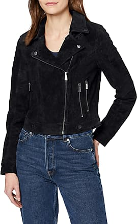 Vero Moda Womens Vmroycesalon Short Suede Jacket Noos Leather, Black, M