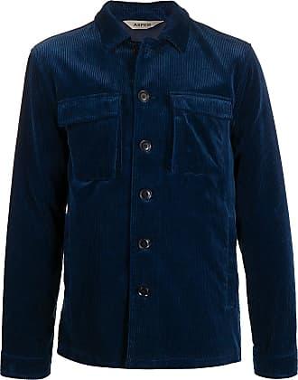 Aspesi Jaqueta de veludo cotelê com botões - Azul