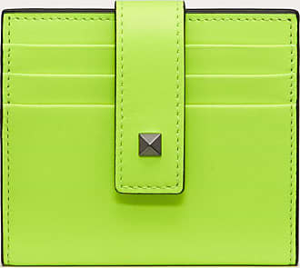 Valentino Garavani Valentino Garavani Uomo Rockstud Cardholder Man Florescent Yellow 100% Pelle Di Vitello - Bos Taurus OneSize