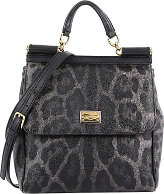 94cd43b01825 Dolce   Gabbana Miss Sicily Handbag Leopard Print Leather North South