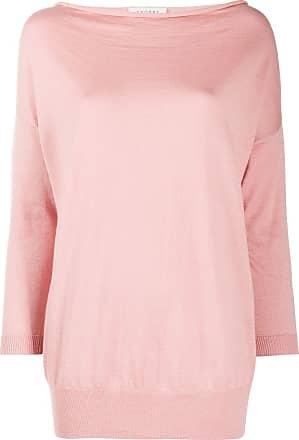 Snobby Sheep Blusa decote drapeado de tricô e cashmere - Rosa