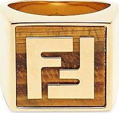 Fendi Ff Signet Ring - Mens - Gold