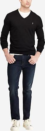 Polo Ralph Lauren Pull en coton pima uni à col V slim fit Noir Polo Ralph 492d27b950f2