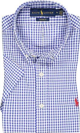 Polo Ralph Lauren Kurzarmhemd mit Karo-Muster, Custom Fit von Polo Ralph Lauren in Marine für Herren