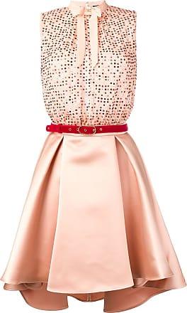 Elisabetta Franchi sequin short party dress - Neutrals