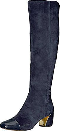 Nine West Womens JATOBA Knee High Boot, Navy Suede, 12 Medium US
