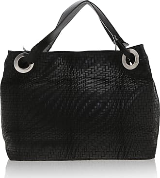 Chicca Borse Woman Shoulder Bag in Genuine Leather Made in Italy - 38 x 28 x 10 Cm