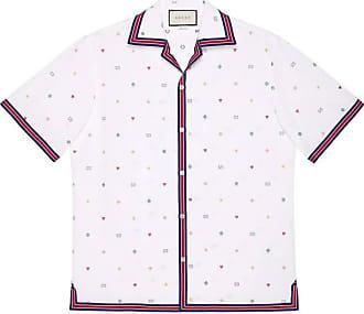 38a7273d3d11 Gucci Symbols fil coupé bowling shirt