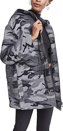 Urban Classics Womens Ladies Oversize Camo Parka Coat, Multicolour (Darkcamo 00707), XXXX-Large