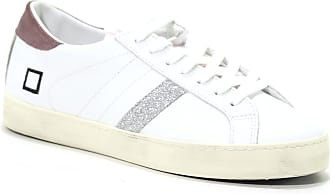 f8b5e74dbe D.A.T.E. WOMENS W291HLCAWK WHITE LEATHER SNEAKERS