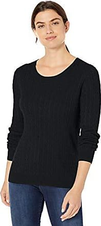 Essentials Lightweight Cable Crewneck Sweater Mujer