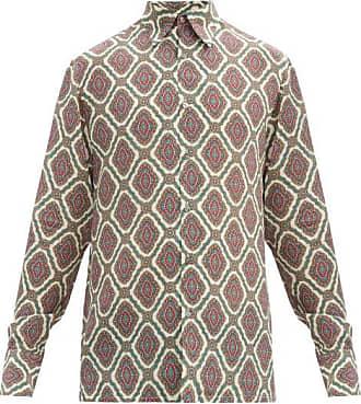 73 London Madani-print Silk Crepe De Chine Shirt - Mens - Multi