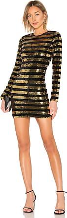 Rta Crystal Dress in Metallic Gold