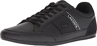Lacoste Mens Chaymon Sneaker, Black/White Leather, 13 Medium US