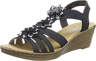 Rieker Womens 62461-16 Closed Toe Sandals, Blue (Pazifik/Marine/Heaven 16), 3.5 UK