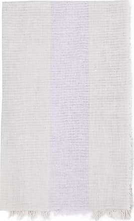 Fabiana Filippi Schal aus Leinen-Mischgeweben mit Paillettenverzierung Grau