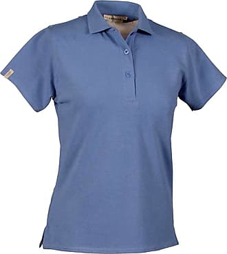 Glenmuir Sophie Shaped Fit Cotton Ladies Polo Golf Shirt (M, Light Blue)