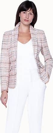 Akris Tweed Blazer with Fringe Detail