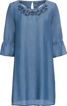 Bodyflirt Dam Klänning i tencel i blå kort ärm - BODYFLIRT 1756d0535c48b
