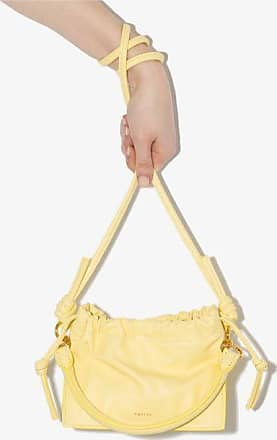 Yuzefi Womens Yellow Mini Bom Leather Bag