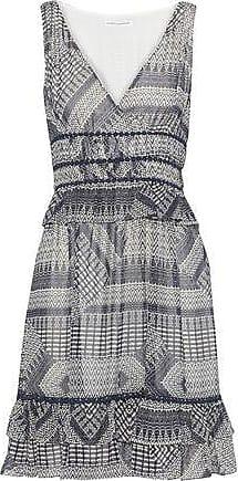 Rebecca Minkoff Rebecca Minkoff Woman Lucille Ruffle-trimmed Printed Georgette Mini Dress Navy Size 00