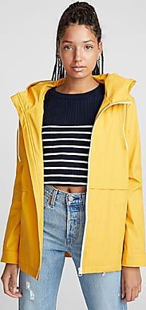 Twik Contrast zip raincoat