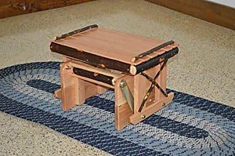 A & L Furniture A & L Furniture 2121 Hickory Gliding Ottoman, Natural Finish