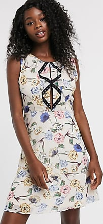 Urban Bliss adeline floral dress with stud front detail-Multi