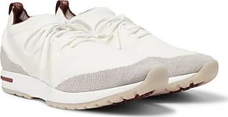 Loro Piana 360 Flexy Walk Leather-trimmed Knitted Wool Sneakers - Off-white