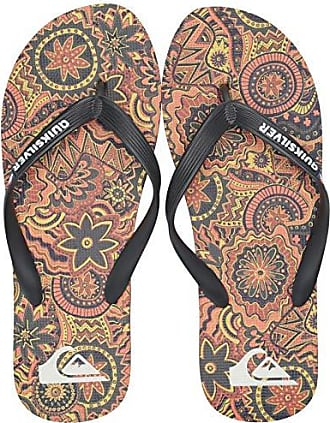 Quiksilver Mens Molokai Highline Dreamer Flip-Flop, Black/Orange/Blue, 14(47) M US