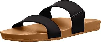 Reef Womens Cushion Bounce Vista Slide Sandal, Black Natural, 4.5 UK