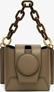 Yuzefi Womens Grey Daria Chunky Chain Cross Body Bag