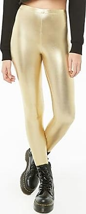 Forever 21 Forever 21 High-Rise Faux Leather Leggings Gold