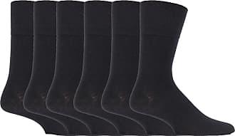 SockShop 6 Pairs Unisex IOMI Footnurse SockShop Loose Non Elastic Diabetic Socks for Swollen Legs with Hand Linked Toe Seams 6-11 UK 39-45 Eur (Black)