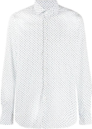 Xacus geometric-print buttoned shirt - White