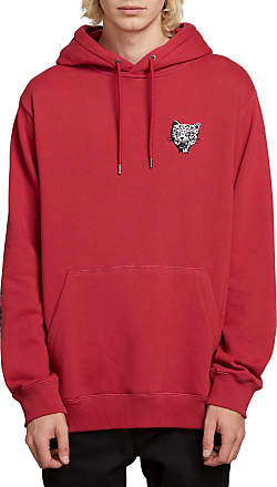 Volcom Mens Ozzie Wright Badass Cats Hooded Sweatshirt, Burgundy, Large