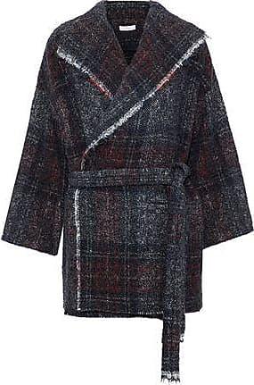 Iro Iro Woman Belted Marled Knitted Coat Black Size 36